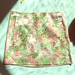 Watercolor Floral Pattern J. Crew Skirt, size 8